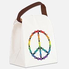 peace chain vivid Canvas Lunch Bag