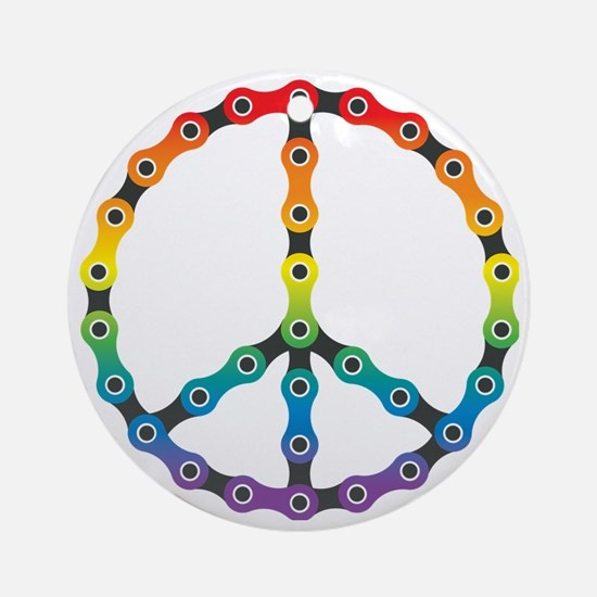 peace chain vivid Round Ornament