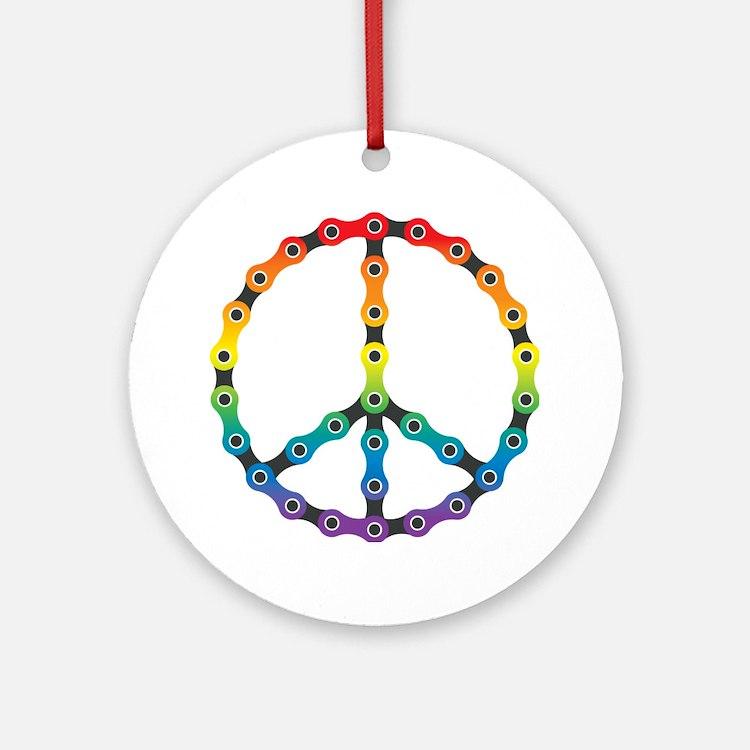 peace chain vivid Round Ornament