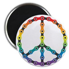 peace chain vivid Magnet