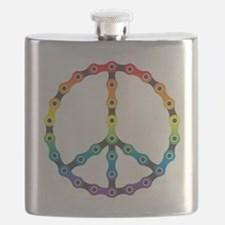 peace chain vivid Flask