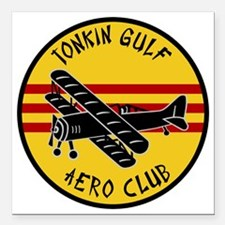 "Tonkin Aero Club Square Car Magnet 3"" x 3"""