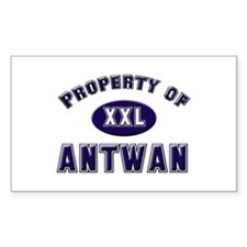 Property of antwan Rectangle Decal