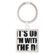 withthedj1 Square Keychain