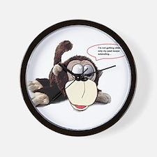Aging monkey Wall Clock