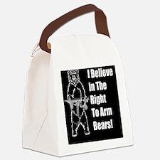 bear gundbutt Canvas Lunch Bag