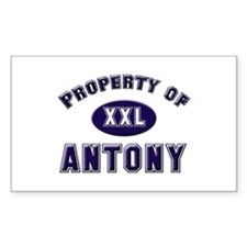 Property of antony Rectangle Decal