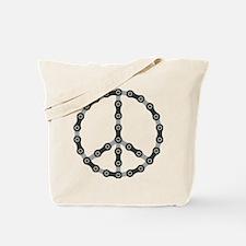 peace chain bw Tote Bag