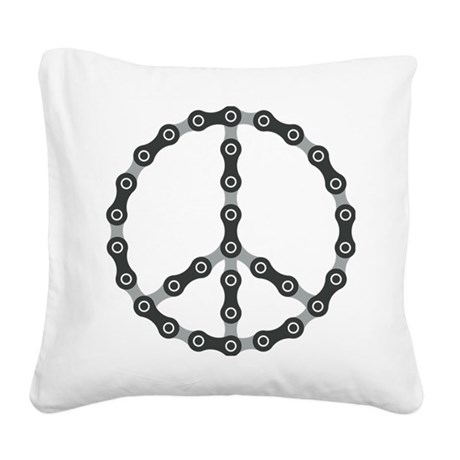 peace chain bw Square Canvas Pillow
