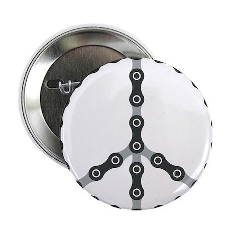 "peace chain bw 2.25"" Button"