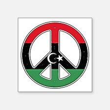 "Libya peace Square Sticker 3"" x 3"""
