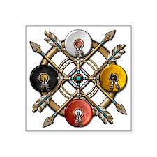 "Medicine Wheel Mandala Square Sticker 3"" x 3"""