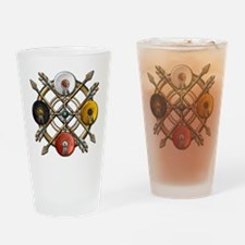 Medicine Wheel Mandala Drinking Glass