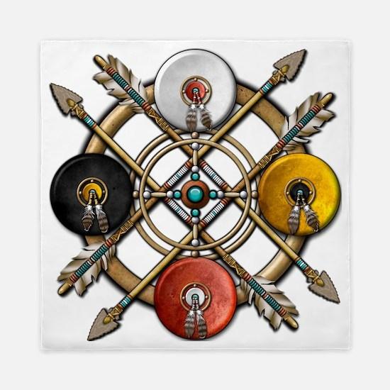 Medicine Wheel Mandala Queen Duvet