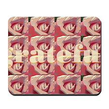 rose pattern_grateful_text Mousepad