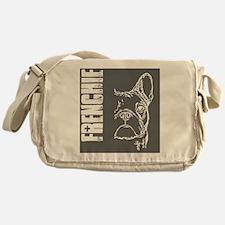BHNW_frenchieGREY_flip_flops Messenger Bag
