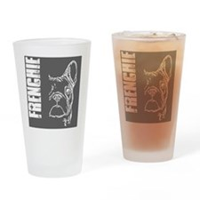 BHNW_frenchieGREY_flip_flops Drinking Glass