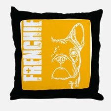 BHNW_frenchieORNG_flip_flops Throw Pillow