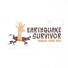 EarthquakeShirtFinal Aluminum License Plate