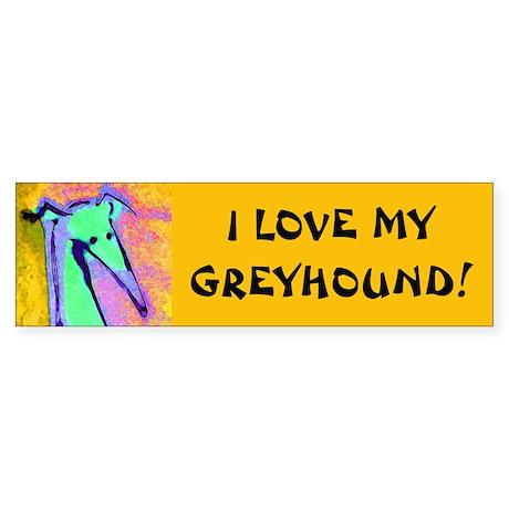 Greyhound Love Bumper Sticker