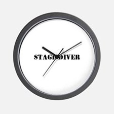 Stage Diver Wall Clock