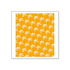 "BHNW_BullieSkullsORANGE_fli Square Sticker 3"" x 3"""