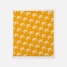 BHNW_BullieSkullsORANGE_flip_flops Throw Blanket