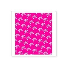 "BHNW_BullieSkullsPINK_flip_ Square Sticker 3"" x 3"""
