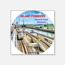 "Island Princess  2011 - Pan Square Sticker 3"" x 3"""