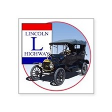 "LincolnHighway-C10trans Square Sticker 3"" x 3"""