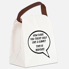 Golf speech bubble Canvas Lunch Bag