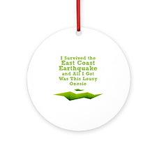 eastcoastearthquake Round Ornament