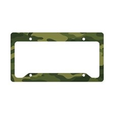 5x3oval_camo_01 License Plate Holder