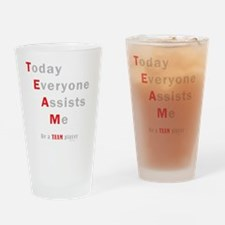 TEAM SHIRT - dark Drinking Glass
