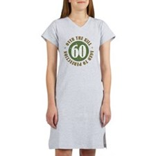60th Birthday Over The Hill Women's Nightshirt