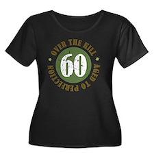 60th Bir Women's Plus Size Dark Scoop Neck T-Shirt