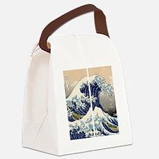 great_wave_flip_flops Canvas Lunch Bag
