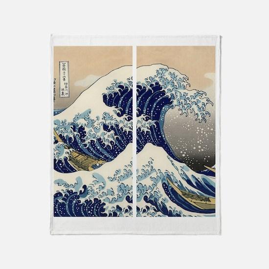 great_wave_flip_flops Throw Blanket