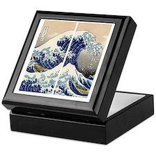 great_wave_flip_flops Keepsake Box
