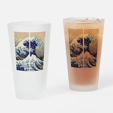great_wave_flip_flops Drinking Glass
