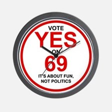 Yes on 69 Wall Clock