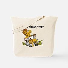 Custom African Lion Safari Tote Bag