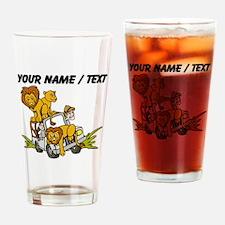 Custom African Lion Safari Drinking Glass