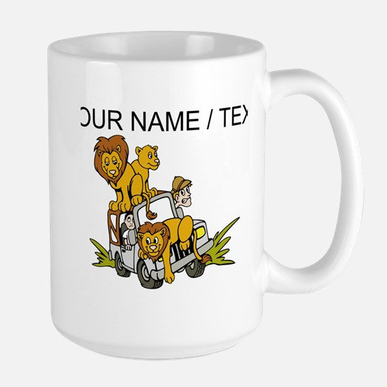 Custom African Lion Safari Mugs