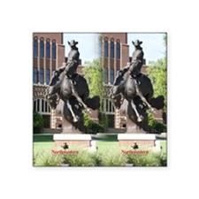"new horse logo -- statue Square Sticker 3"" x 3"""