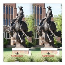 "new horse logo -- statue Square Car Magnet 3"" x 3"""