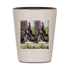 new horse logo -- statue Shot Glass