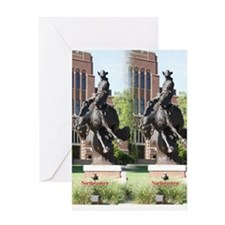 new horse logo -- statue Greeting Card