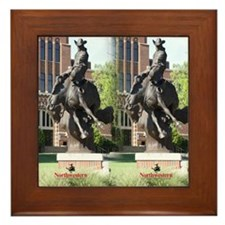 new horse logo -- statue Framed Tile