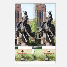 new horse logo -- statue Postcards (Package of 8)